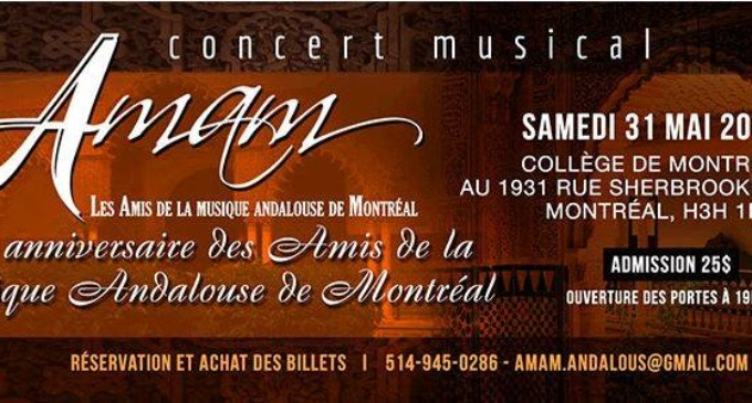 Concert Musical Andalou – 31 Mai 2014
