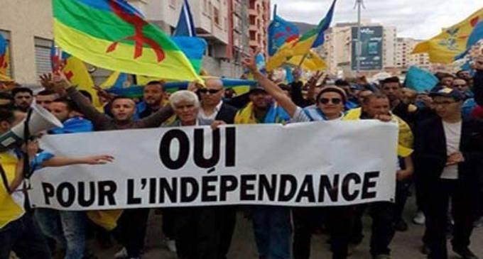 Les indépendantistes kabyles du MAK marchent à Tizi ouzou .