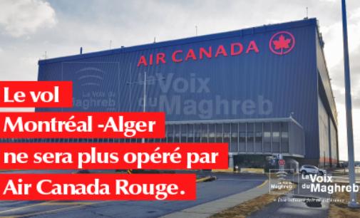 Le vol Montréal – Alger ne sera plus opéré par Air Canada Rouge