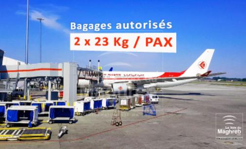 Aucun changement concernant le poids des bagages sur le vol Montréal-Alger d'Air Algérie.